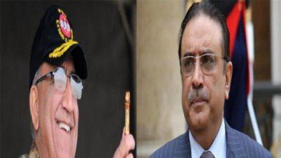 Asif Ali Zardari and General Qamar Bajwa