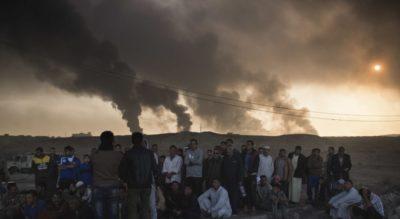 ISIS Burn Oil Wells