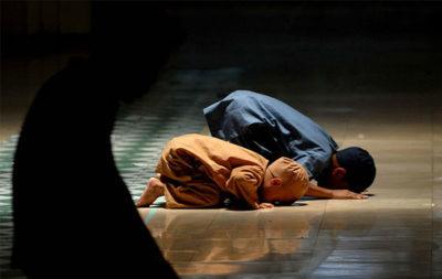 Muslim Children Offering Prayer