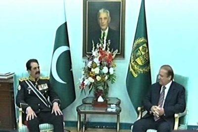 Nawaz Sharif and Raheed Sharif