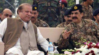 Nawaz Sharif with General Raheel Sharif
