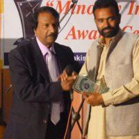 Sahil Munir Receiving Minority Intelligentia Award 2015 at Multan