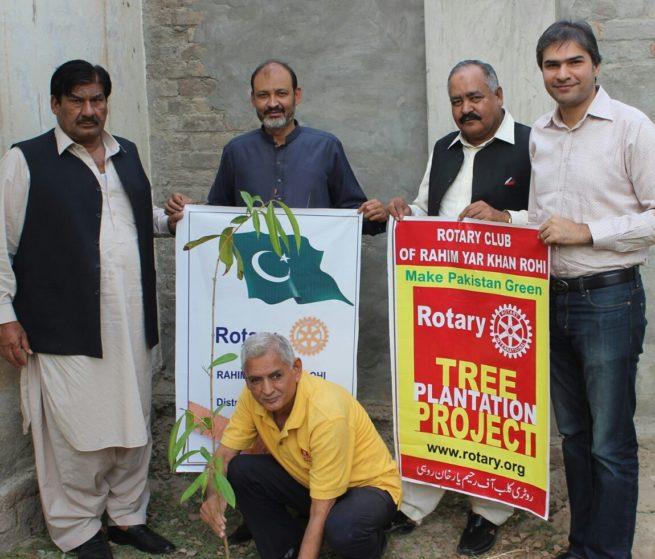 Tree Plantation by Rotary Club