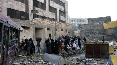 Aleppo Civilians Evacuated