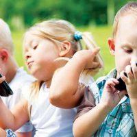 Children Using Mobile