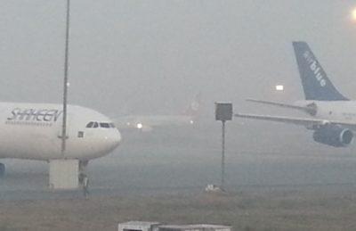 Lahore Airport Fog