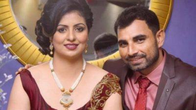 Muhammad Shami with Wife