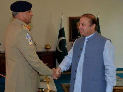 Nawaz Sharif and General Qamar Javed Bajwa