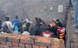 گوجرانوالہ : مکان کی چھت گرنے سے ایک خاندان کے 5 افراد جاں بحق