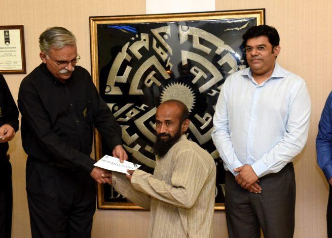 Cheque Distribution Ceremony