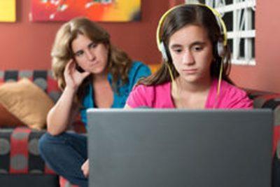 Girl using Internet