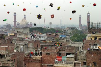 Kite Flying in Lahore