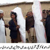 Tehsildar Ziarat Dividing Goods in Snow Effecties