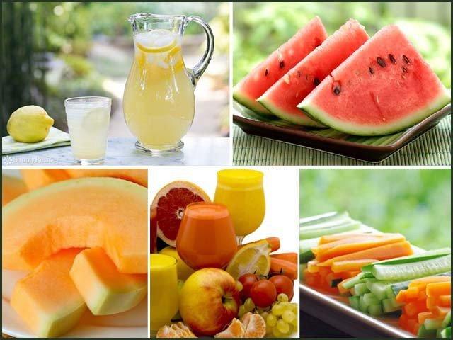 وہ سبزیاں اور پھل جو ہمیں گرمی کے اثرات سے بچاتے ہیں