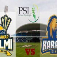 Peshawar Zalmi and Karachi Kings
