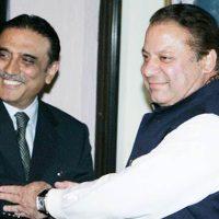 Asif Ali Zardari and Nawaz Sharif