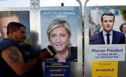 فرانس صدارتی انتخاب: میکوں اور لو پین میں حتمی مقابلہ ہو گا