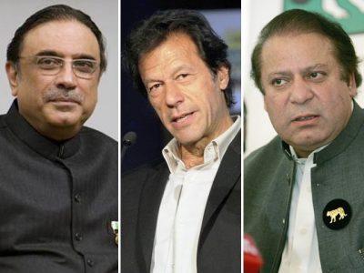 Asif Ali Zardari, Nawaz Sharif, Imran Khan