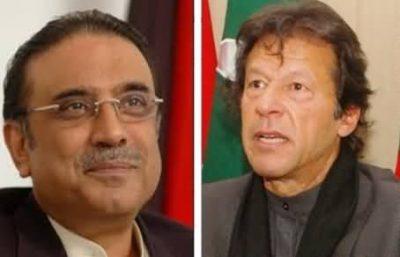 Asif Ali Zardari and Imran Khan