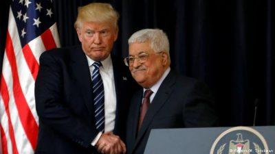 Donald Trump and Mahmoud Abbas