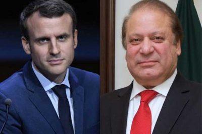 Emmanuel Macron-Nawaz Sharif