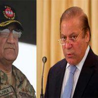 General Qamar Javed Bajwa and Nawaz Sharif