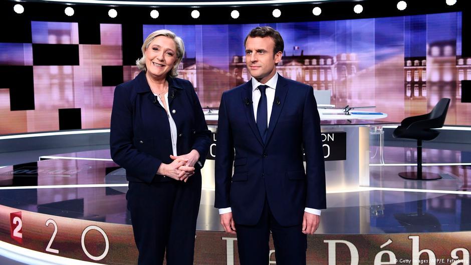 فرانس: ماکروں، لے پین سے زیادہ متاثر کن ہیں