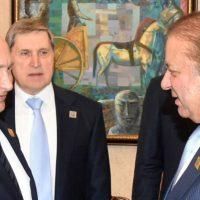 Vladimir Putin and Nawaz Sharif