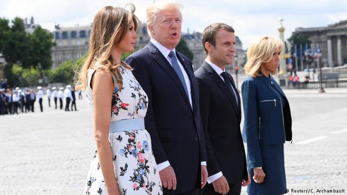 یوم باستیل، ٹرمپ کا دورہ فرانس