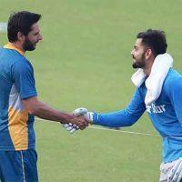 Afridi and Virat Kohli