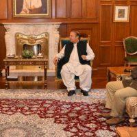 Shahid Khaqan Abbasi-Nawaz Sharif Meeting