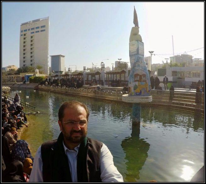Dr. Ali Abbas Shah at the Alqamah rivulet, a creek of Euphrates