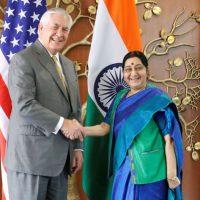 Rex Tillerson and Sushma Swaraj
