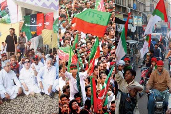 سندھ میں تین سیاسی جماعتیں آج سیاسی قوت کا مظاہرہ کرینگی
