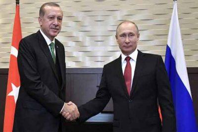 Tayyip Erdogan-Russian President