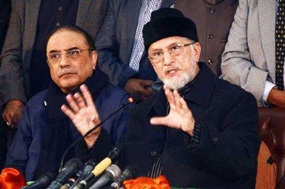 Asif Zardari and Tahir-ul-Qadri