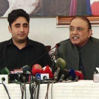 Bilawal Zardari and Asif Zardari