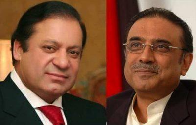 Nawaz Sharif and Asif Zardari