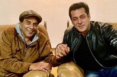 Salman Khan and Dharminder