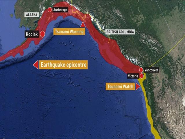 امریکا میں 7.9 شدت کا زلزلہ، سونامی وارننگ جاری کر دی گئی