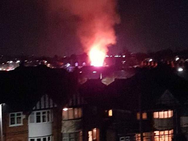 برطانوی شہر لیسیسٹر میں زوردار دھماکا
