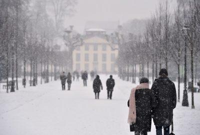 Snowfall in France