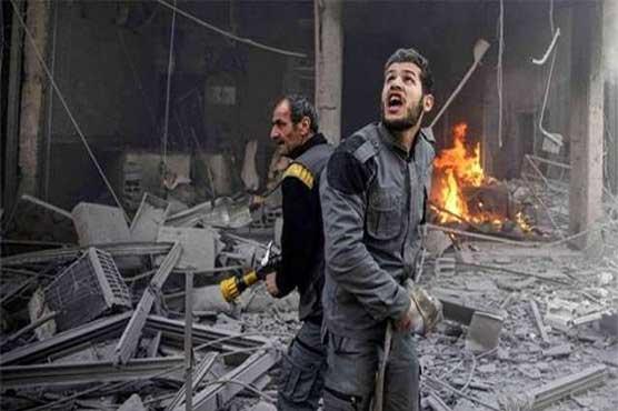 شام: 10 روز سے جاری بمباری میں بچوں سمیت 560 شہری جاں بحق