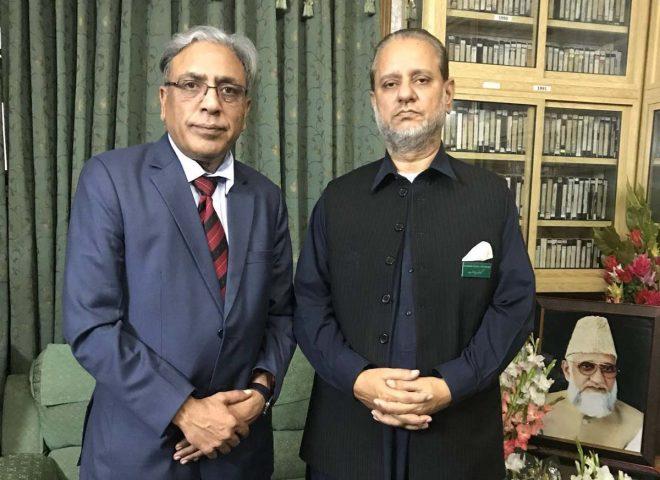 کشمیر کونسل یورپ علی رضا سید کی سابق وزیراعظم سردار عتیق سے ملاقات: مسئلہ کشمیر پر تبادلہ خیال کیا گیا