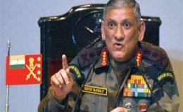پاکستان اور چین سے ایک ساتھ نہیں نمٹ سکتے، بھارتی آرمی چیف کا اعتراف