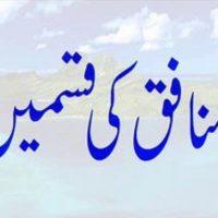Munafiq Ki Qismein