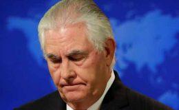 امریکا میں بڑی تبدیلیاں، صدر ٹرمپ نے وزیرِ خارجہ ریکس ٹلرسن کو بھی برطرف کر دیا