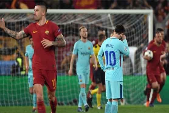 چیمپئنز لیگ: روما کلب نے بارسلونا کو ہرا کر ٹورنامنٹ سے باہر کر دیا