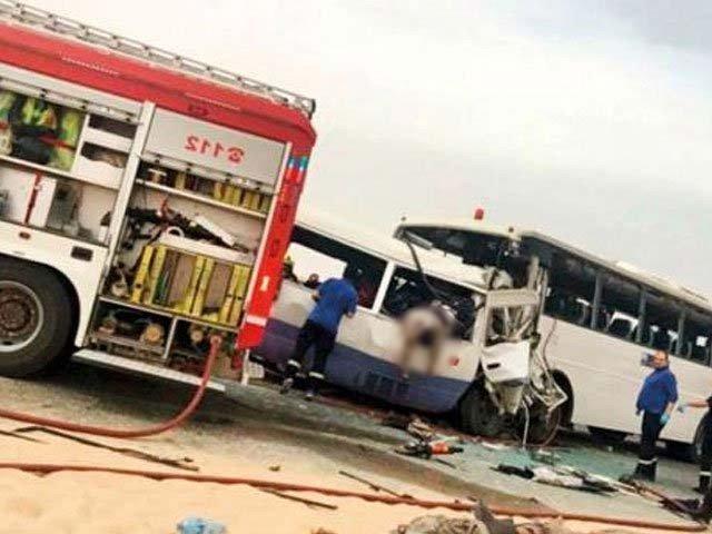 کویت میں 2 بسوں میں تصادم سے 3 پاکستانیوں سمیت 15 افراد ہلاک