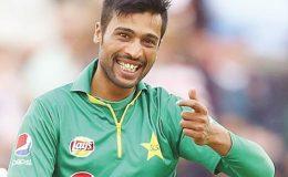 محمد عامر پاؤں پر گیند لگنے کے باوجود سنگین انجری سے بچ نکلے